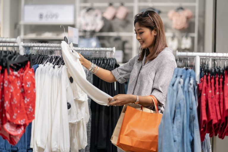 woman shopping for clothes