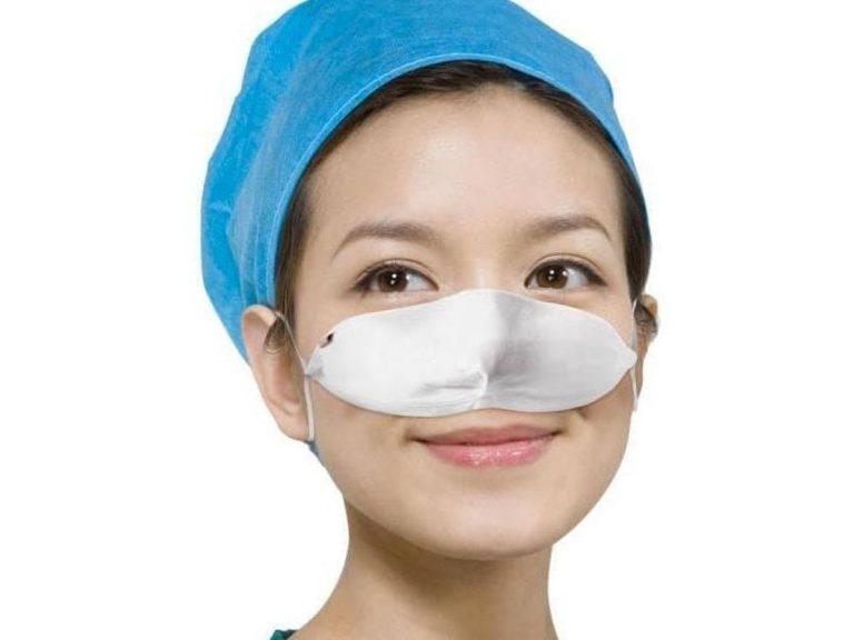woman wearing a nose mask