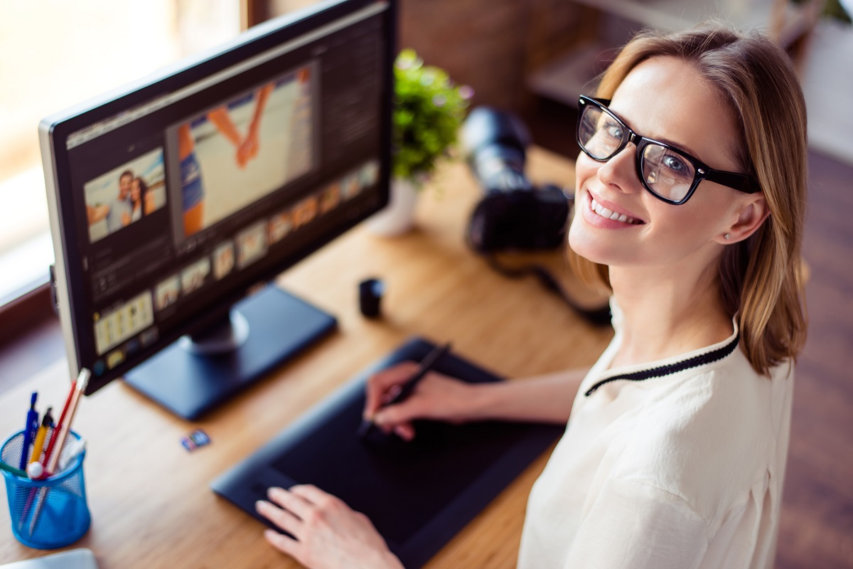 woman editing